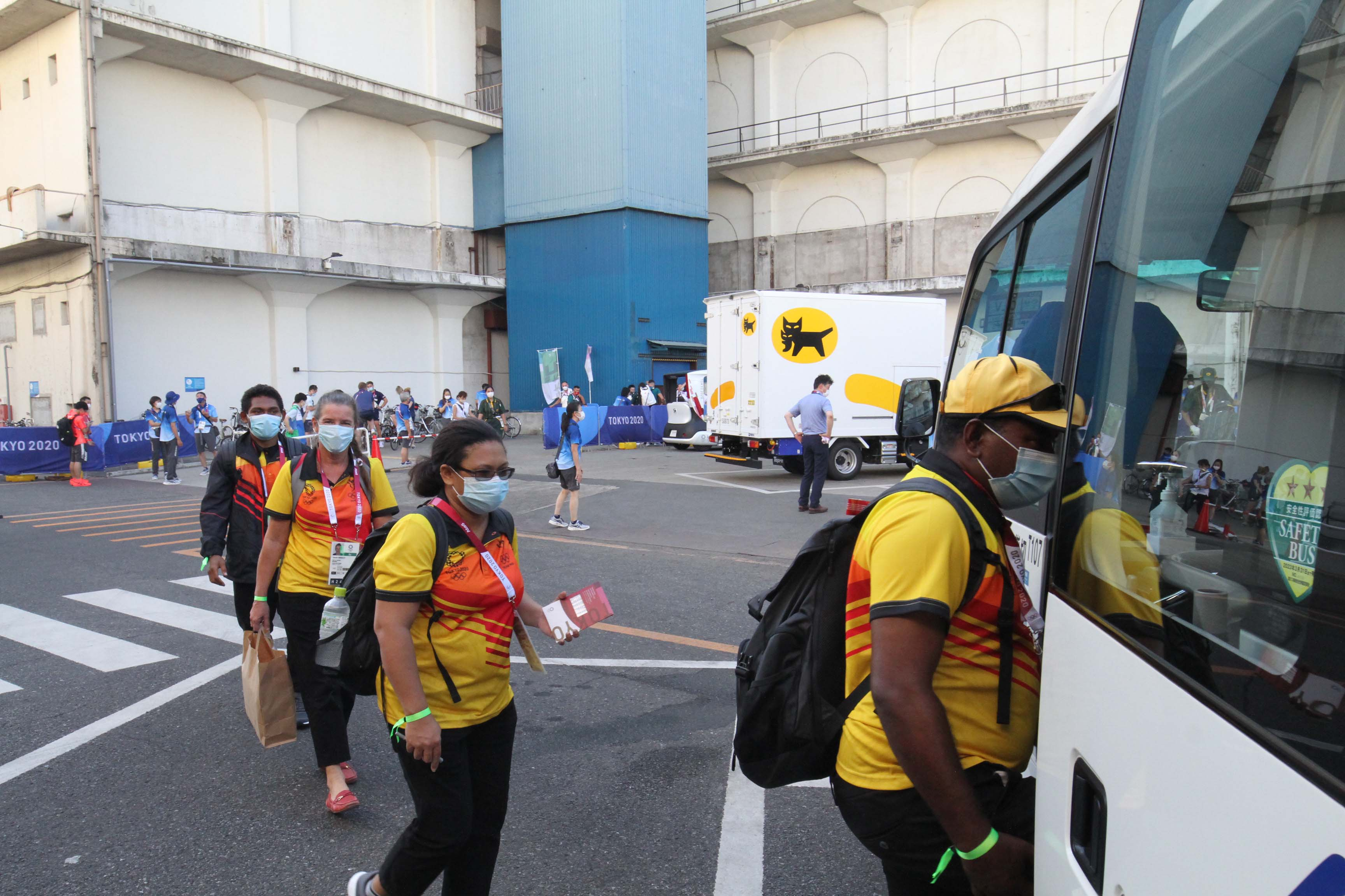Team PNG arrives in Toyko