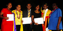 Athletes graduate with educational qualifications