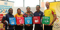 Five Team PNG athletes appointed as Champions for Sustainable Development Goals