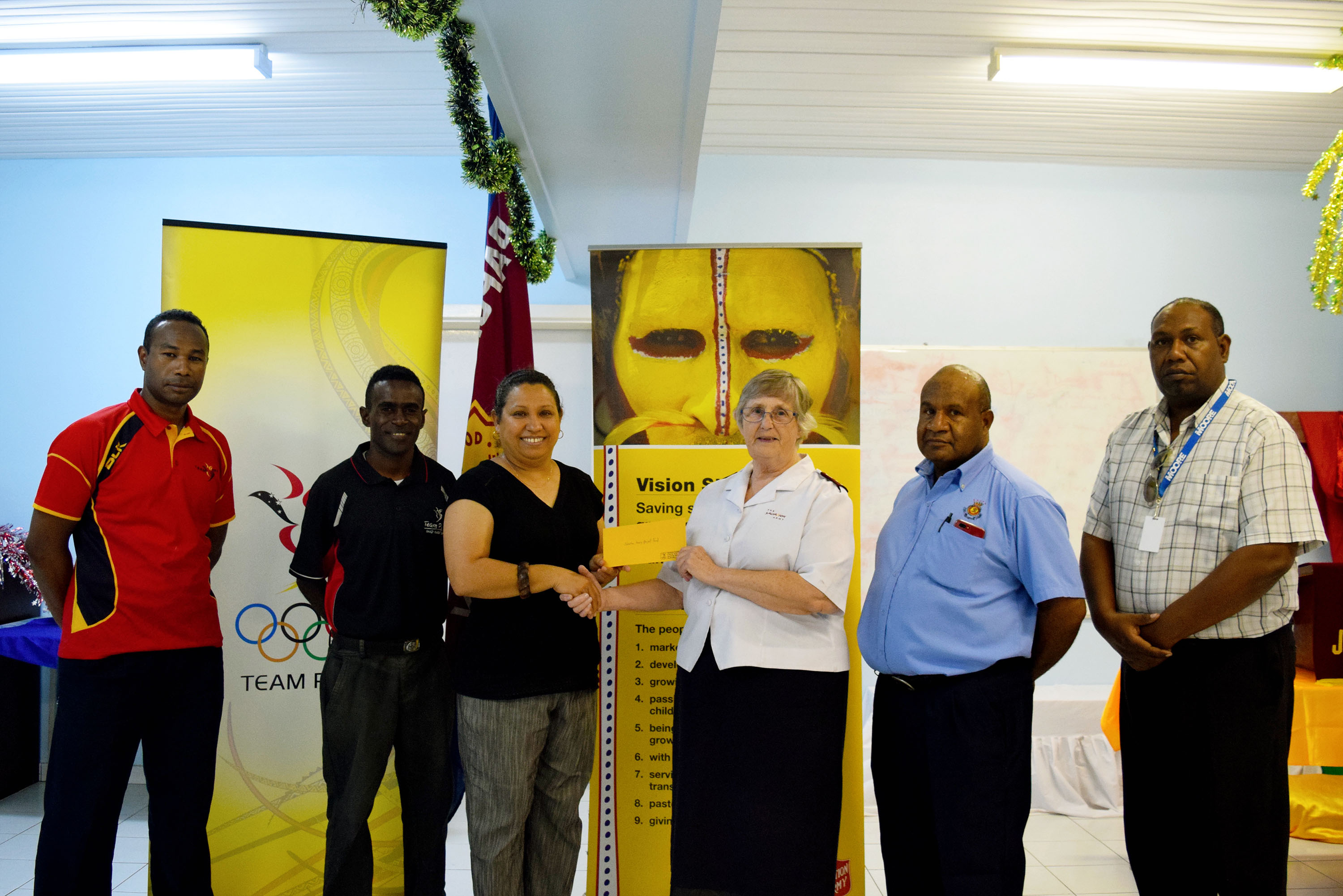 Team PNG donates to earthquake recovery
