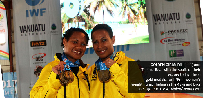 Weightlifting draws first golds for PNG