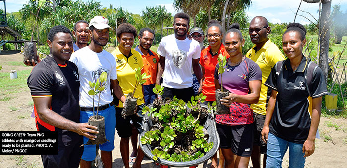 Team PNG plants trees to mark 100 Days to Samoa 2019