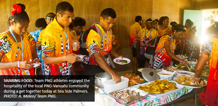 Team PNG gets local treat