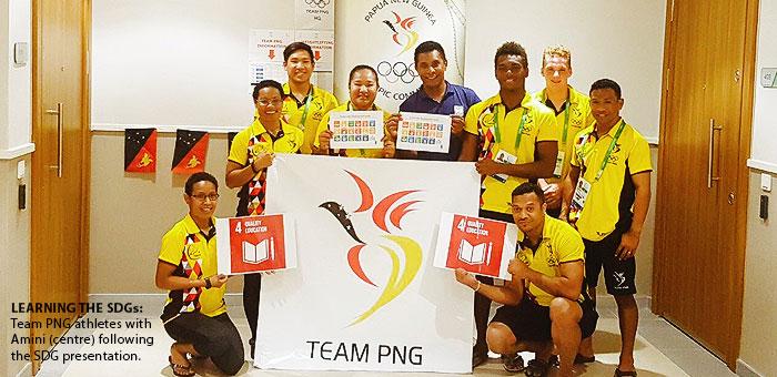 Amini takes team through SDGs