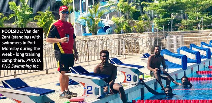 Van der Zant takes swimmers through camp